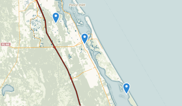 New Smyrna Beach, Florida Map