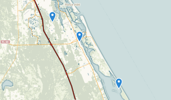 New Smyrna Beach, Florida Map