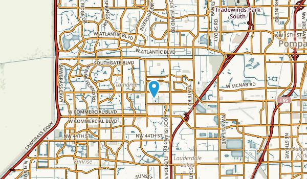 North Lauderdale, Florida Map