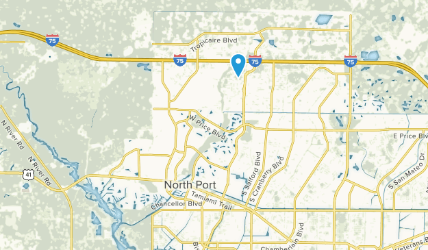 North Port, Florida Map