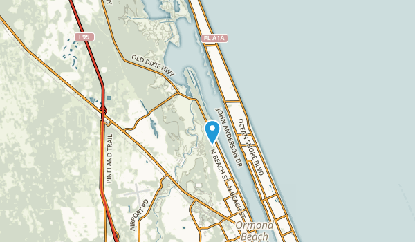 Ormond-by-the-Sea, Florida Map