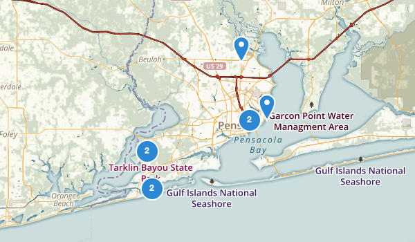 trail locations for Pensacola, Florida