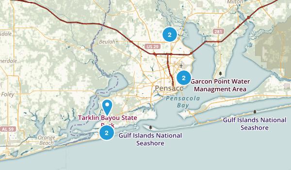 Pensacola, Florida Map