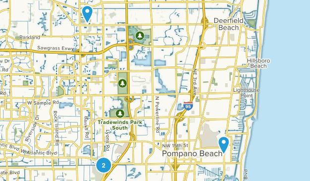 Pompano Beach, Florida Map