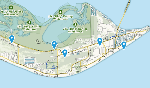 Sanibel, Florida Map