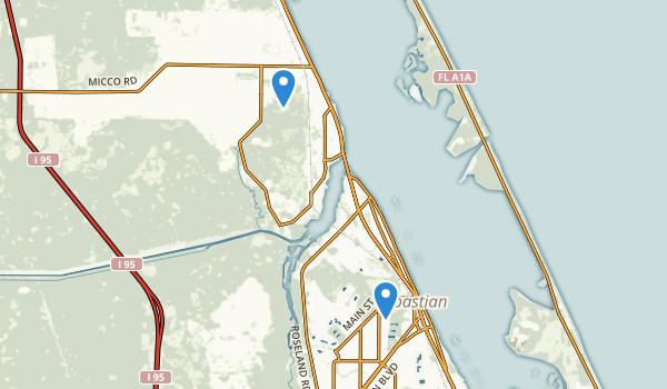 Sebastian, Florida Map