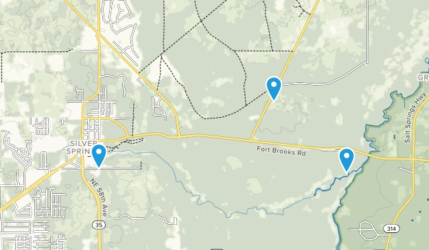 Silver Springs, Florida Map