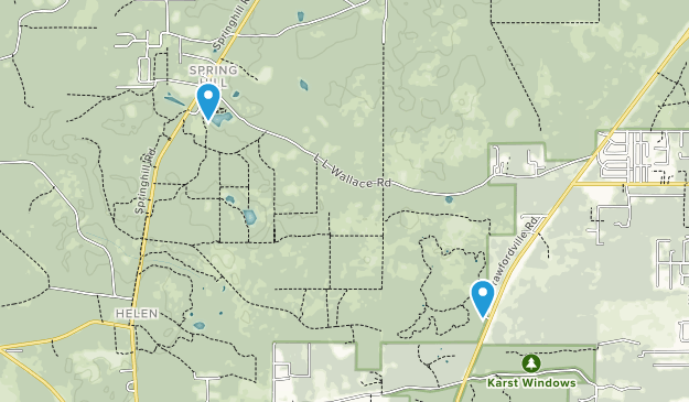 Wakulla Springs, Florida Map