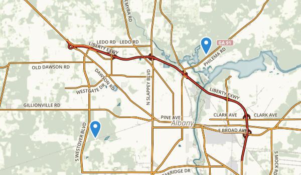 Albany, Georgia Map