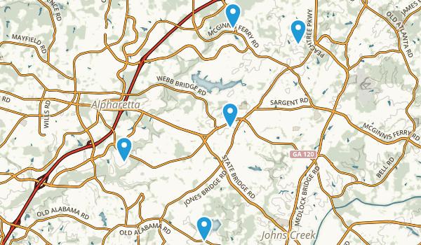 Alpharetta, Georgia Map