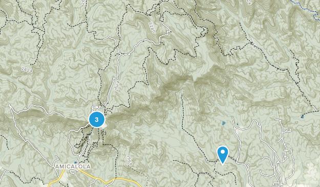 Amicalola, Georgia Map