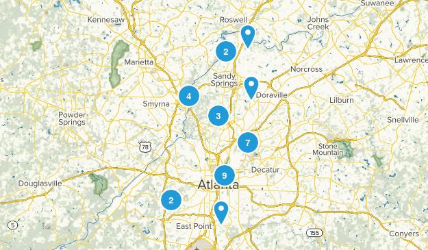 Atlanta, Georgia Map