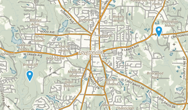 Brookcliff, Georgia Map