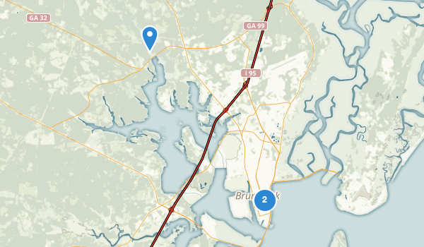 Brunswick, Georgia Map