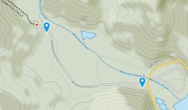 Clarkesville, Georgia Map