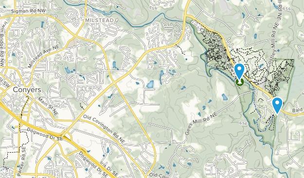 Conyers, Georgia Map