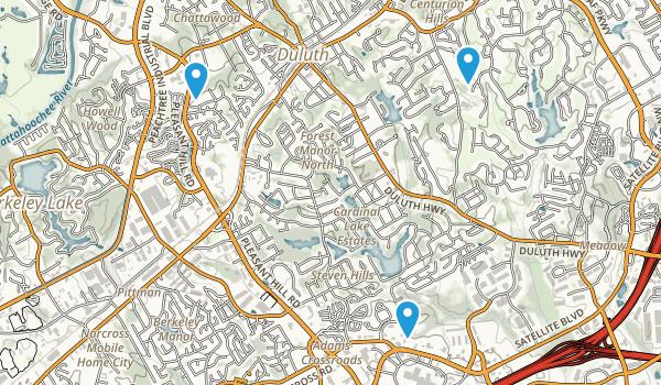 Duluth, Georgia Map