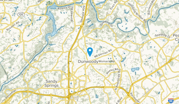 Dunwoody, Georgia Map