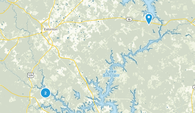 Eatonton, Georgia Map