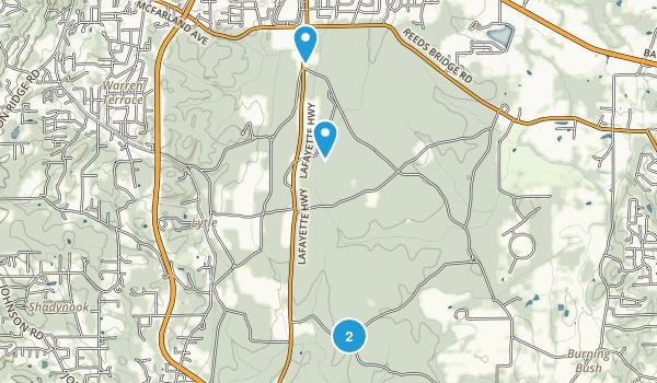 Best Trails Near Fort Oglethorpe Georgia Photos - Georgia map 21