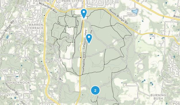 Fort Oglethorpe, Georgia Map