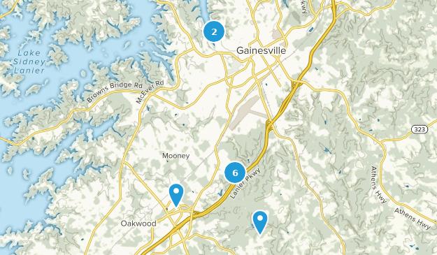 Gainesville, Georgia Map