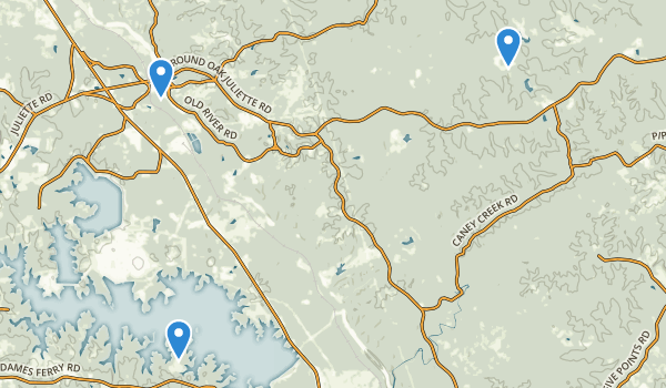 trail locations for Juliette, Georgia