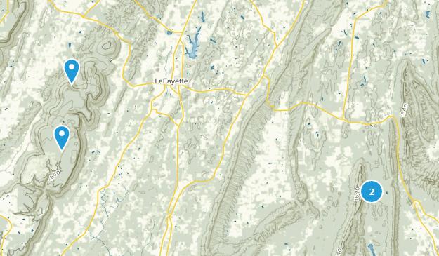 La Fayette, Georgia Map