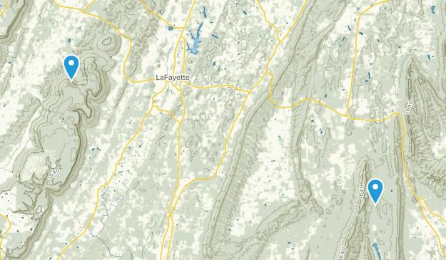 LaFayette, Georgia Map