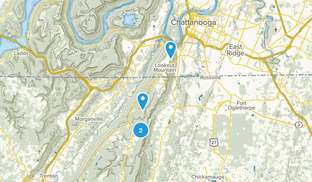 Lookout Mountain, Georgia Map