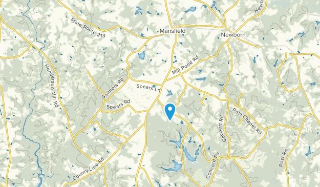Mansfield, Georgia Map