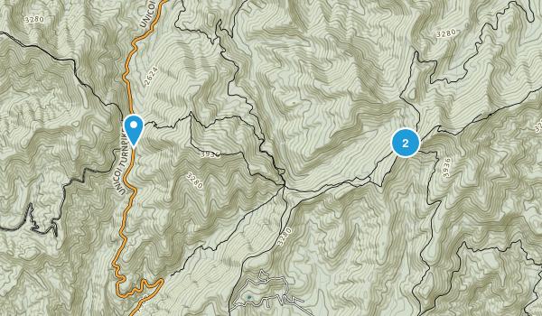 Mountain Scene, Georgia Map
