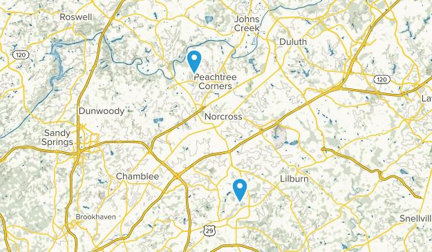 Norcross, Georgia Map