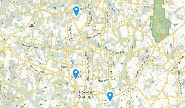 Powder Springs, Georgia Map