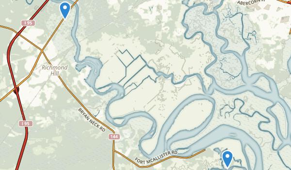 trail locations for Richmond Hill, Georgia