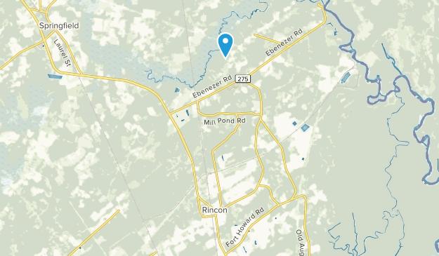 Rincon, Georgia Map
