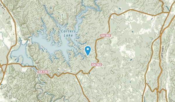 Roundtop, Georgia Map