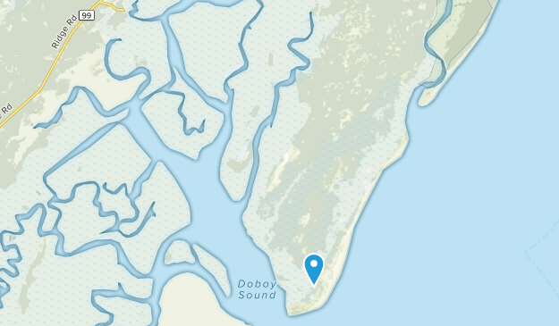 Sapelo Island, Georgia Map