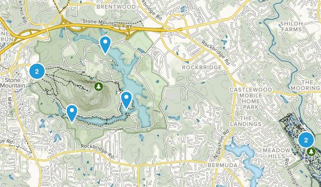 Stone Mountain, Georgia Map