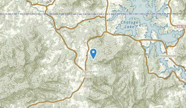 Young Harris, Georgia Map
