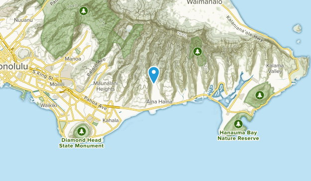 ʻĀina Haina, Hawaii Map