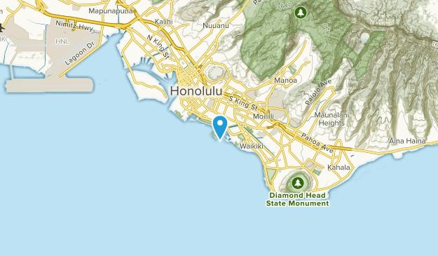 Ala Moana, Hawaii Map