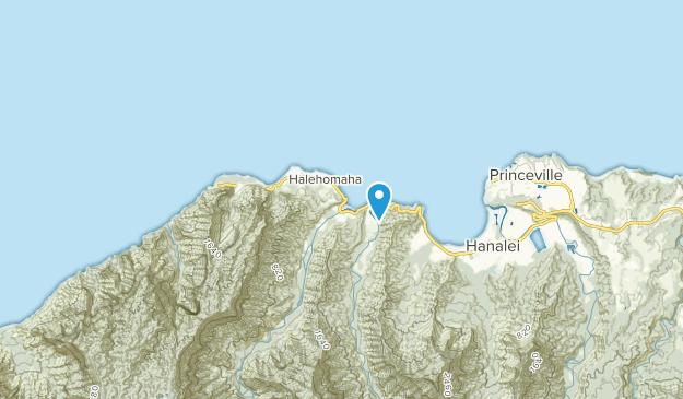 Hanalei (Kauai), Hawaii Map