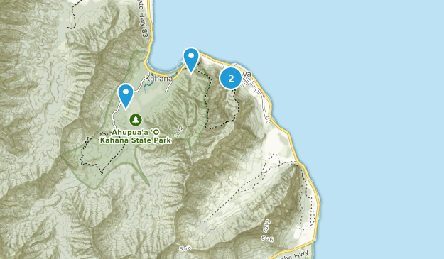 Kaʻaʻawa, Hawaii Map
