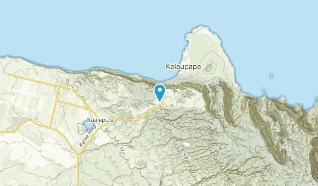 Kalaupapa, Hawaii Map