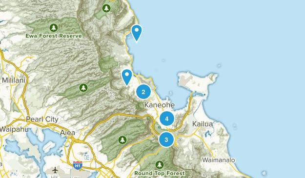 Kaneohe, Hawaii Map