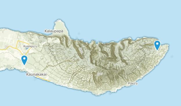Kaunakakai, Hawaii Map