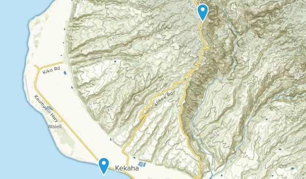 Kekaha (Kauai), Hawaii Map