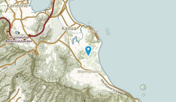 Keolu Hills, Hawaii Map