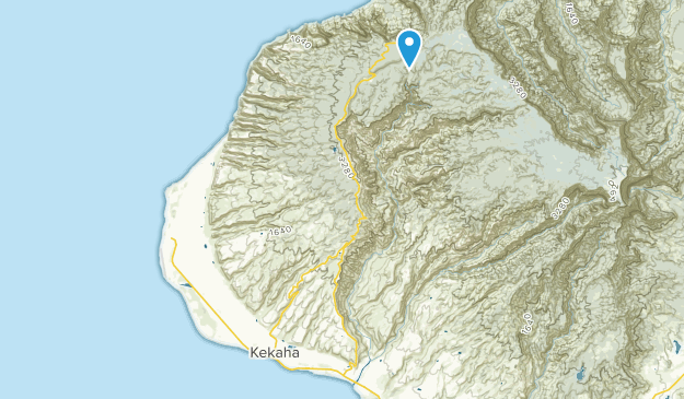 Kokee, Hawaii Map